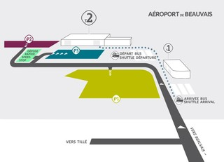 Map of Paris Beauvais airport & terminal (BVA)