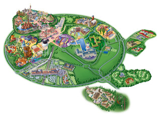 picture about Printable Disneyland Maps named Map of Disneyland Paris and Walt Disney Studios
